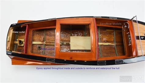 1930 chris craft runabout handcrafted wooden boat radio - Radio Control Chris Craft Boats