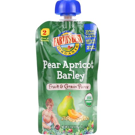 Pouch Kosmetik Fruit Day by Earths Best Baby Food Organic Fruit And Grain Puree