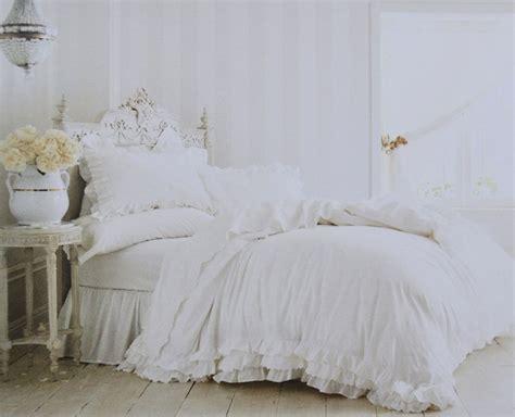 rachel ashwell simply shabby chic white ruffle lace duvet set  pc fullqueen ebay