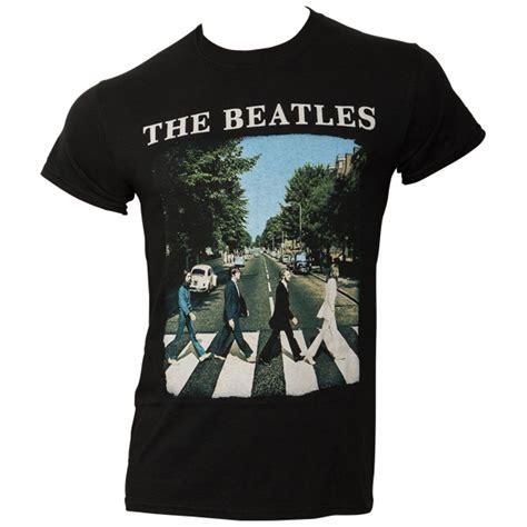 Tshirt The Beatles 5 the beatles t shirt road logo schwarz rocknshop