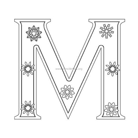 printable capital letter stencils best photos of capital letter m template printable