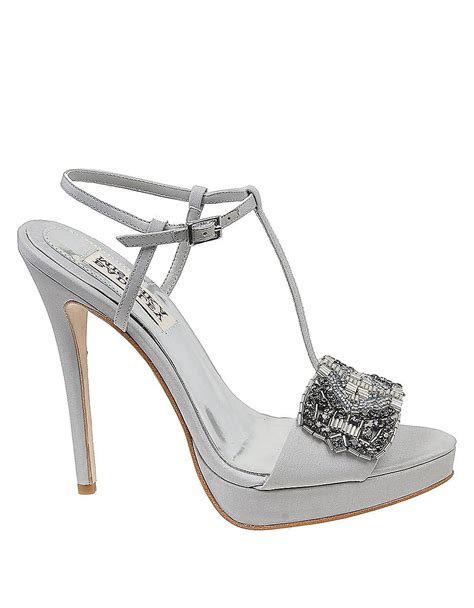 grey dress sandals badgley mischka amara tstrap dress sandals with beaded