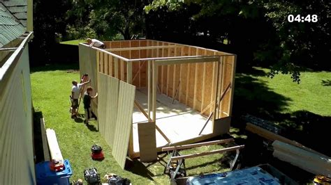 shed build timelapse youtube