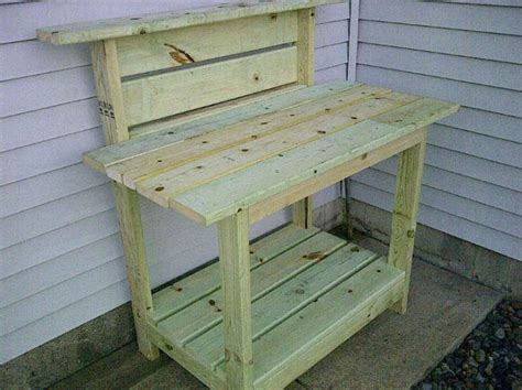 wooden bench with cooler plans potting bench kreg jig owners community great project idea