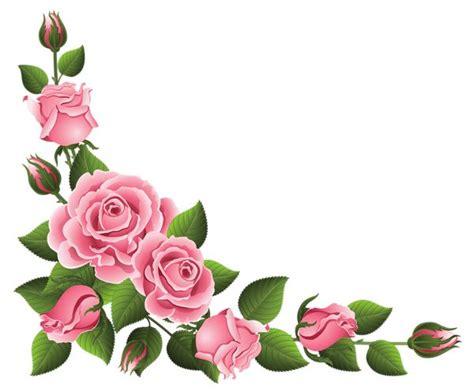 pin de em rose moldura de flores grinaldas de