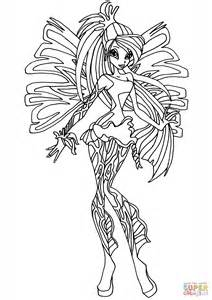 winx club sirenix bloom coloring free printable coloring pages