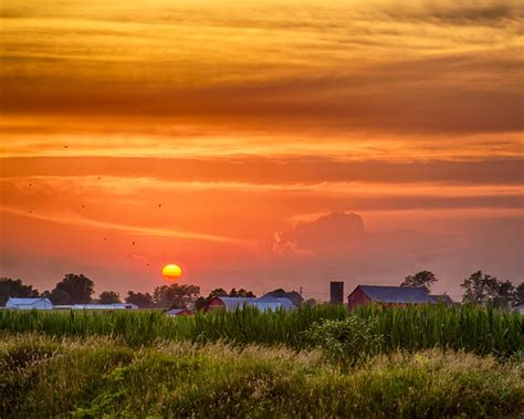sunset picture  nappanee indiana usa wallpaper