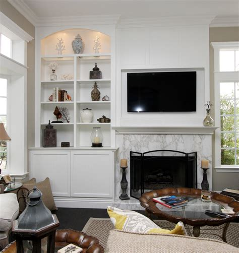 How To Decorate Fireplace fireplace walls transitional living room orange