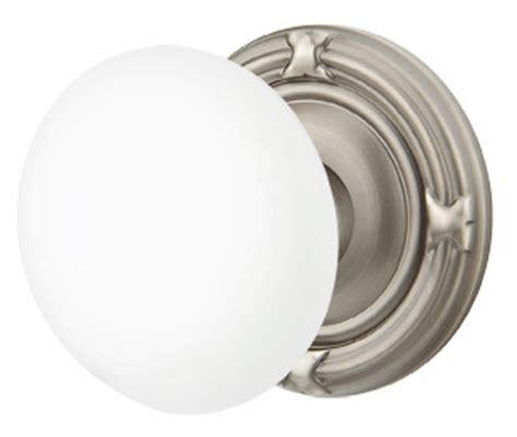 Porcelain Door Knob Sets by White Porcelain Door Knob Set With Ribbon Reed