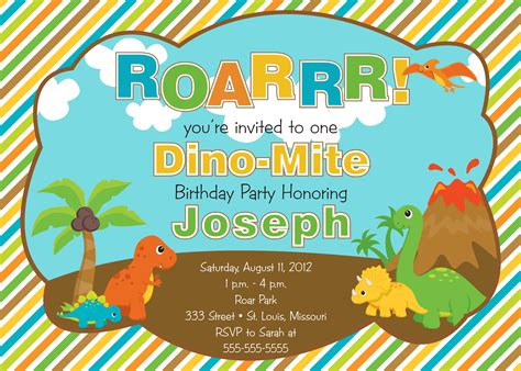 dinosaur invitations template free printable dinosaur birthday invitations