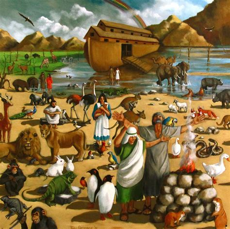 noah s ark mural by joyce geleynse
