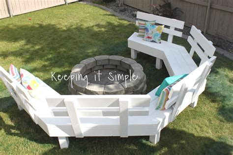 diy fire pit benches keeping it simple diy fire pit sofa bench with step by