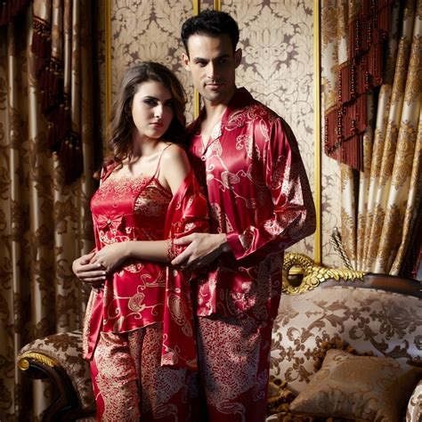 Jaket Sweater Anak Shilouette Bungsu Clothing luxury silk his hers matching couples pajamas sleepwear