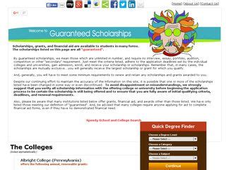 guaranteed scholarships and financial aid scholarships bdhome web directory