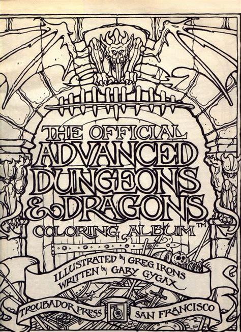 coloring book album listen dungeons dragons coloring album dungeons dragons