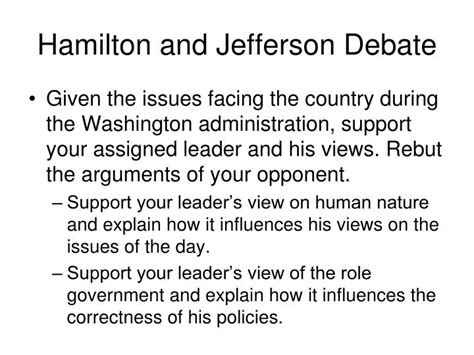 Hamilton Vs Jefferson Essay by Ppt Antifederalist V Federalist Powerpoint Presentation Id 504737