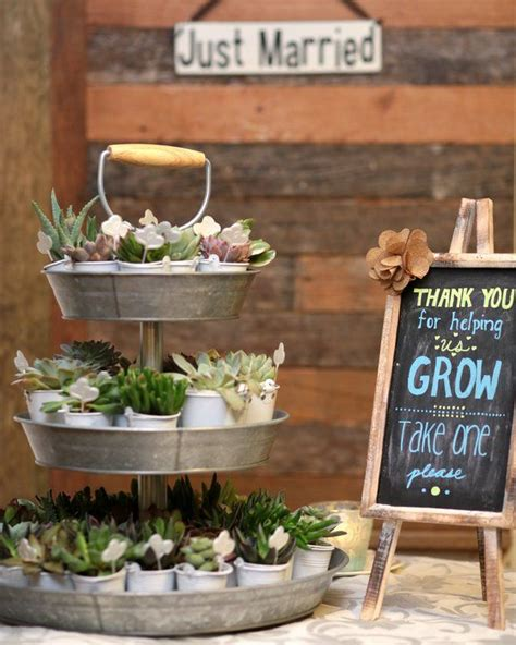 Planting The Chic In Cheap by 25 Best Ideas About Rustic Wedding Favors On