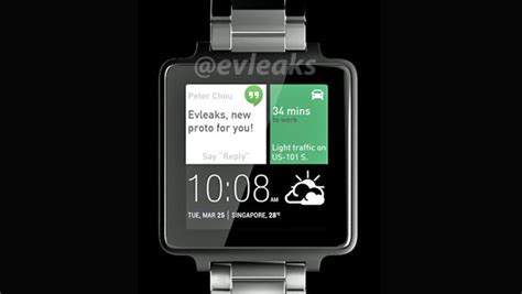 Smartwatch Htc Htc Smartwatch Leaks With Android Wear And Metal