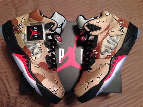 supreme clothing shoes supreme x air 5 desert camo sz 11 ds nike release