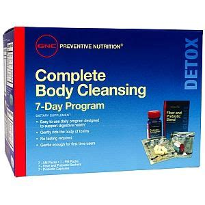 Does Detox From Gnc Work by Gnc Preventive Nutrition 174 Complete Cleansing Program