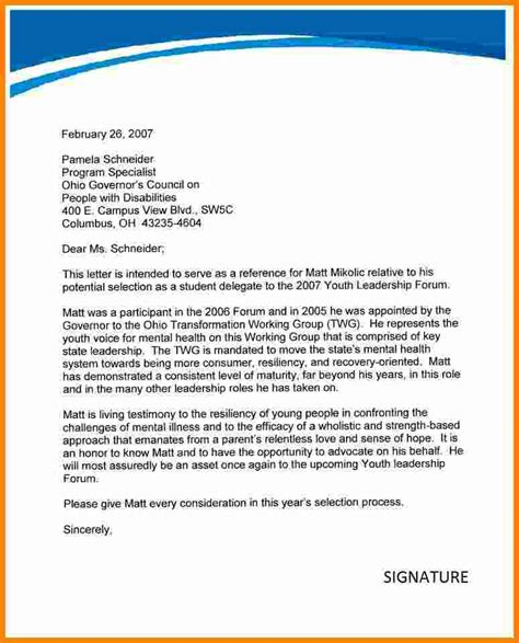 Reference Letter For Student Doc 10 Recommendation Letter For Student Ledger Paper