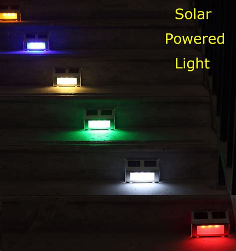 Solar Powered Landscape Lights Led Solar Powered Light Path Stair Outdoor Garden Yard Fence Wall Landscape L In Solar Ls