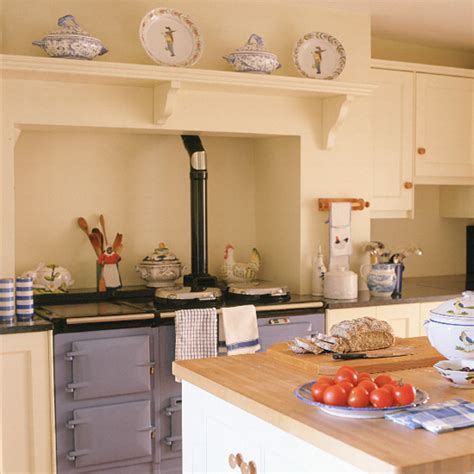 aga kitchen designs traditional kitchen with blue aga ideal home