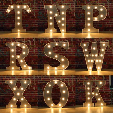 Diy Marquee Letters With Lights