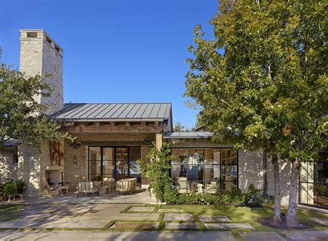 modern contemporary ranch house mediterranean home with inviting design style in austin