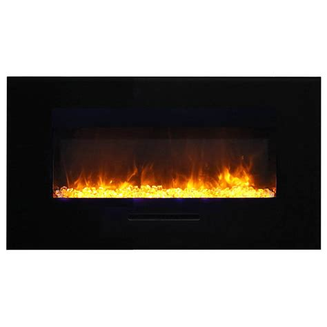 Flush Electric Fireplace by Amantii Wm Fm 34 4423 Bg 34 Quot Flush Mount Electric Fireplace Electric Fireplaces