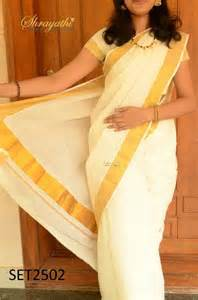 Silver Gift Items India Buy Kerala Set Saree With Blouse Online