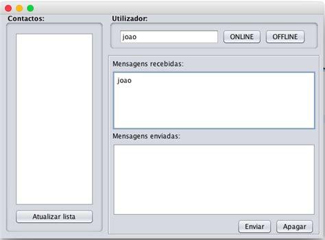 javax swing uimanager java aplica 231 227 o chat cliente servidor com sockets n 227 o