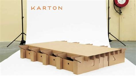 cardboard bed frame the paperpedic bed karton youtube