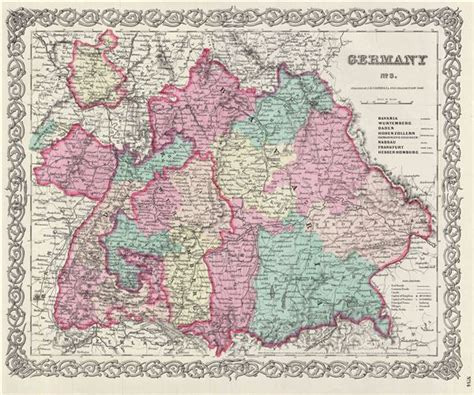 southern germany map germany no 3 geographicus antique maps