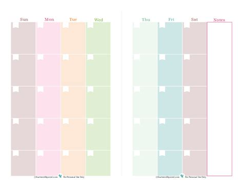printable blank monthly planner half size planner printables printable blank calendar