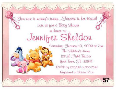 baby shower winnie the pooh invitations 20 baby winnie the pooh baby shower invitations ebay