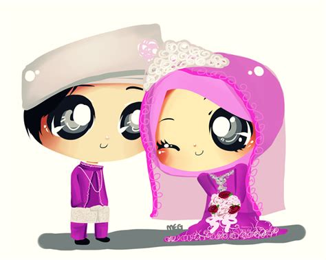 Wedding Kartun by Sana Sini Kartun Doodle Chibi For Wedding