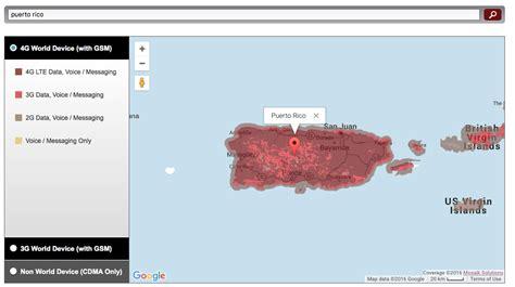 Verizon Coverage Map Puerto Rico   MAP