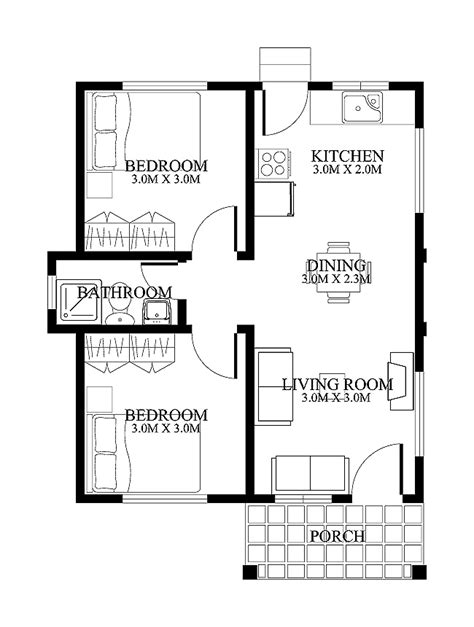 house floor plans two bedrooms small porch and home open designs modern architecture