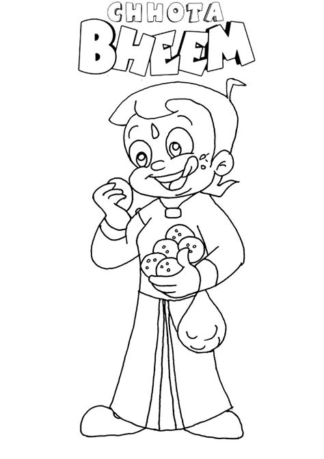 chota bheem coloring pages images chota bheem aur krishna free coloring pages