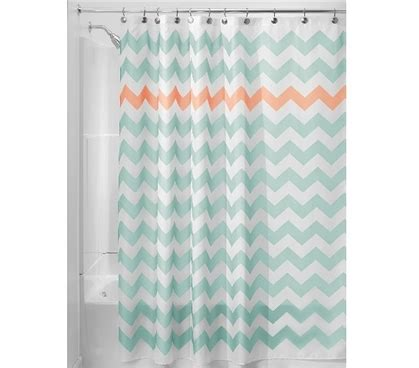 dorm shower curtain chevron fabric dorm shower curtain aruba coral