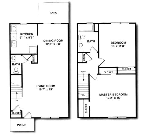2 bedroom 1 bath duplex floor plans briarwood house