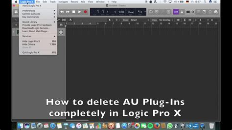 video tutorial logic pro x how to delete plug ins completely logic pro x tutorial