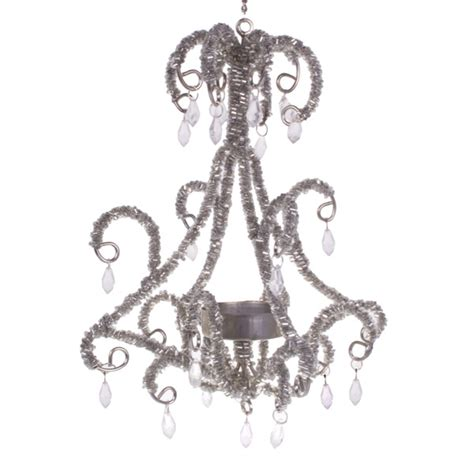 Hanging Tea Light Chandelier Pewter Hanging Chandelier Tea Light Holder Decorations