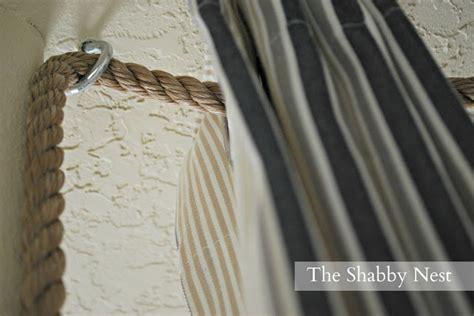 how to hang curtains from the ceiling the shabby nest an ingenious way to hang curtains