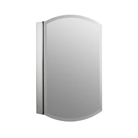 kohler surface mount medicine cabinet shop kohler archer 20 in x 31 in aluminum metal surface