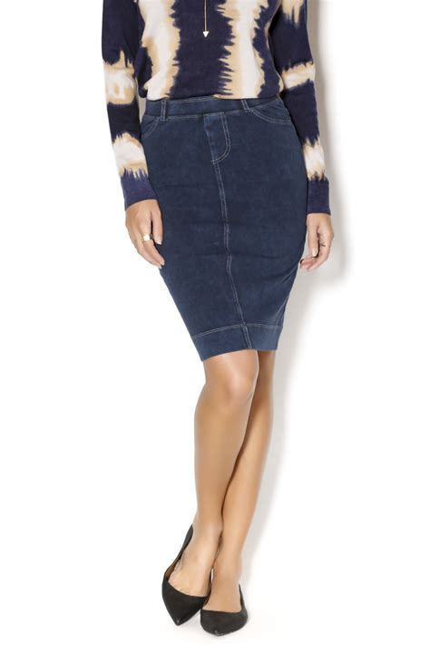 forever stretch denim pencil skirt from new