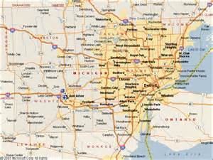 Southeast Michigan Map by Southeast Michigan