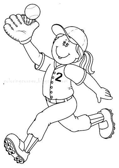 baseball girl coloring page baseball coloring pages