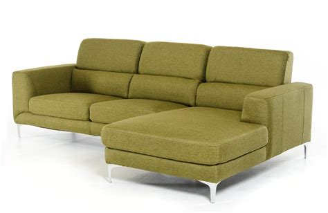 Green Sectional Sofa Divani Casa Verdant Mid Century Green Fabric Sectional Sofa